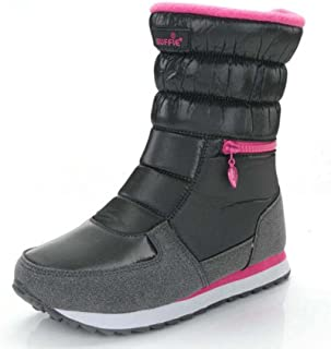 Femmes Bottes De Neige Bout Rond Plat Chaud Coton Bottes Confortable Imperméable À L'eau Non-slip Zipper Sport Chaussures En Plein Air Occasionnel Bottes Eu Taille 35-41