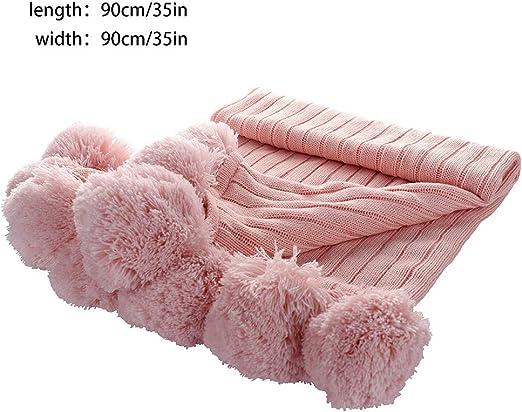 Blanketswarm - Manta de punto, 100% algodón, suave, con flecos ...