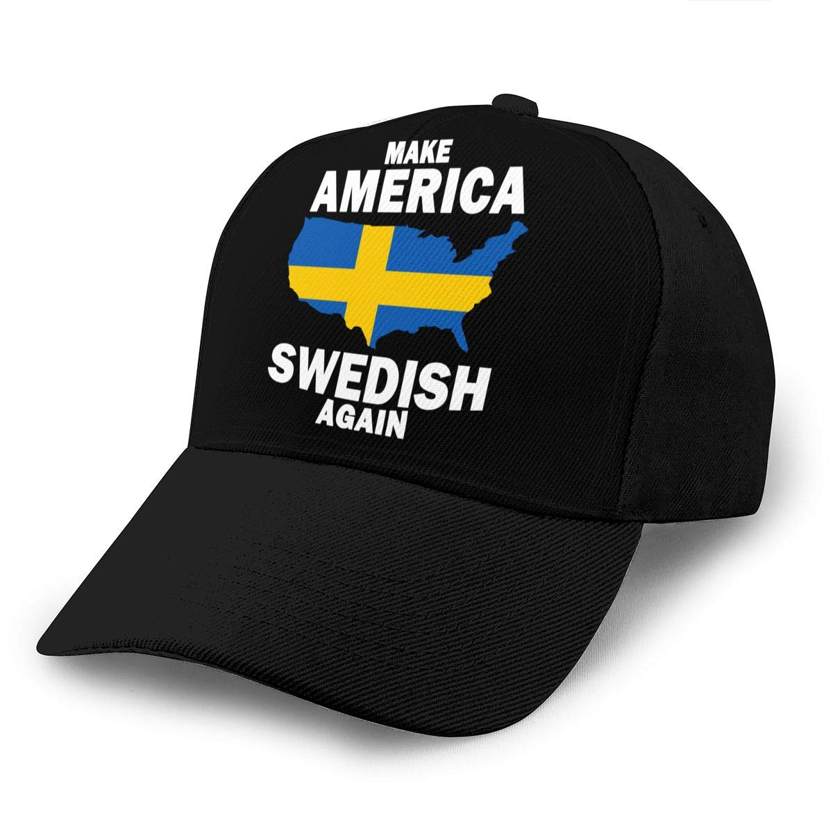 Y94OIW@MAO Make America Swedish Again Trucker Hat for Mens and Womens Cotton Sports Cap