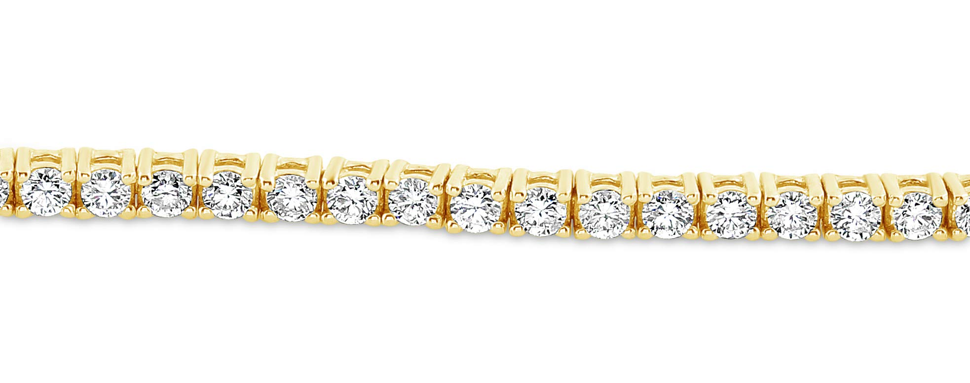 Diamond Tennis Bracelet 2 ct Total of Bright White (G-VS) Natural Diamonds in 14k Gold - Choice of Colour (Yellow-Gold, 2.00) by G&S Diamonds