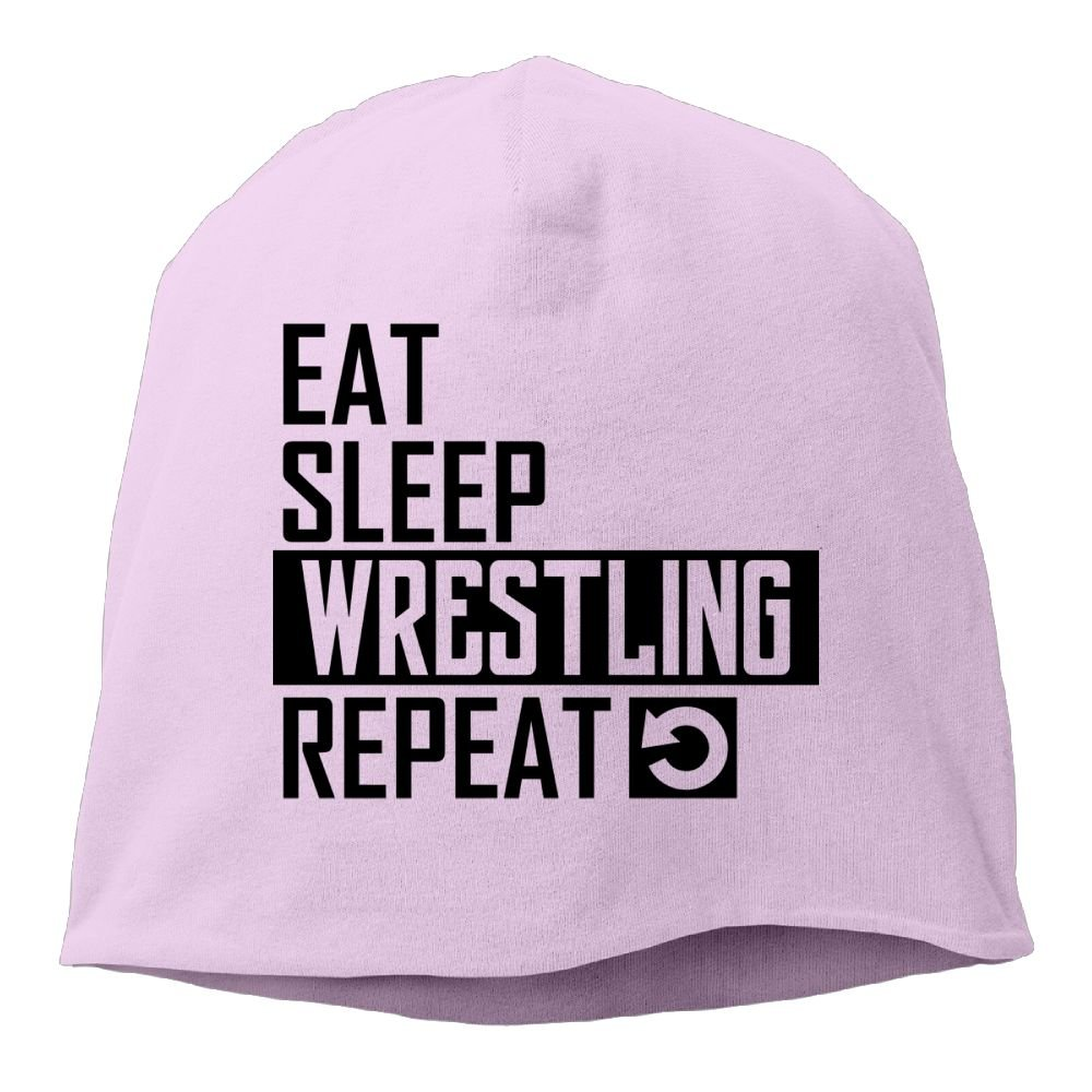 Oiir Ooiip Male Warm Beanie Hat Soft Daily Cap Eat Sleep Wrestling Repeat