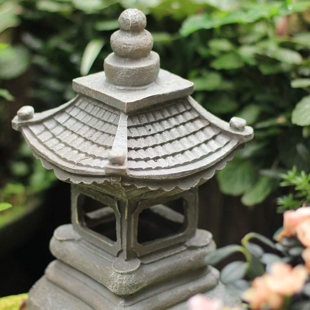 zenggp Japanese Style Solar Zen Garden Lights Lantern Pagoda Light Solar Garden Lamp Statue by zenggp (Image #6)