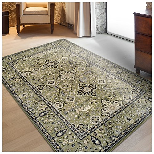 Superior Radcliffe Collection Area Rug, 8mm Pile Height with Jute Backing, Traditional European Tapestry Design, Fashionable and Affordable Woven Rugs - 2'7