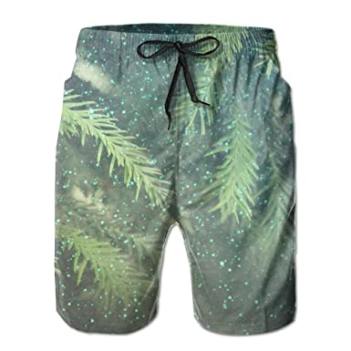 5eff4e9a73 Richard Lyons Boardshorts Abstract Christmas Lights On Background Men's  Printed Summer Stretch Beach Shorts Swim Trunks
