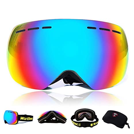 Skiing Eyewear Brand Child Ski Goggles Double Layers Uv400 Anti-fog Big Ski Mask Glasses For Boys And Girls Skiing Mirrowed Snowboard Goggles