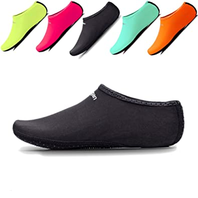 Women's Classic Beach Water Shoes Aqua Socks For Pool Sand Swim Surf