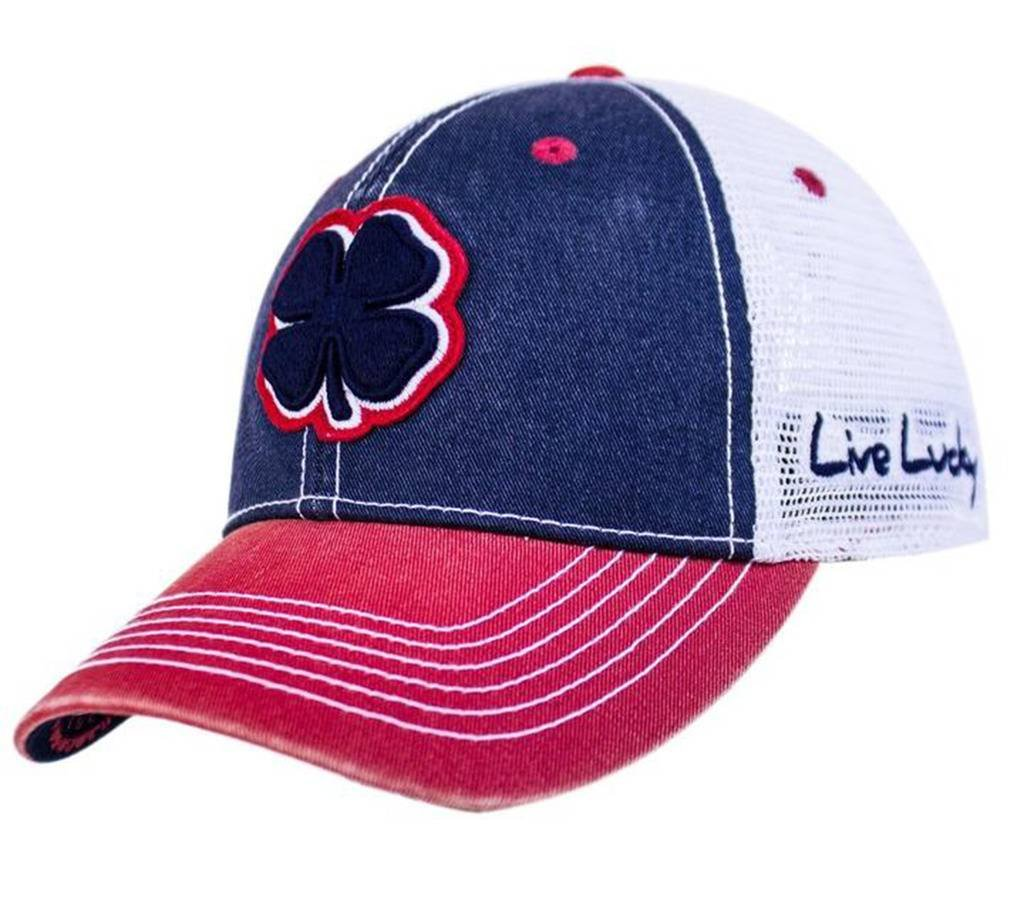 Black Clover Navy/Red/White 2-Tone Vintage #9 Snapback Hat