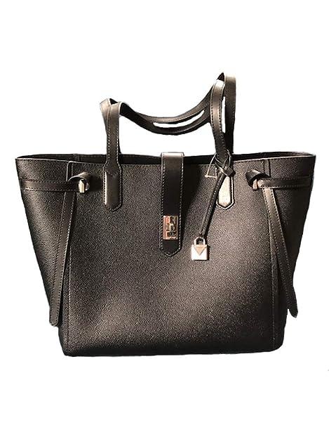 Amazon.com: Michael Kors Lg Leather Cassie Bolso en negro: Shoes