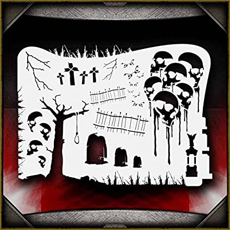 Tombstones 1 AirSick Airbrush Stencil Template