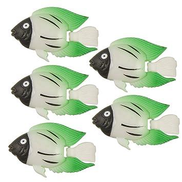 5 pcs flotante verde Wiggly cola peces para acuario: Amazon.es: Productos para mascotas