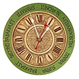 Meal times unique kitchen vintage style decor wooden wall clock emerald green, personalized, housewarming, Victorian, gift, wall decor, Anniversary Gift, meal planning, kitchen clocks wall Review