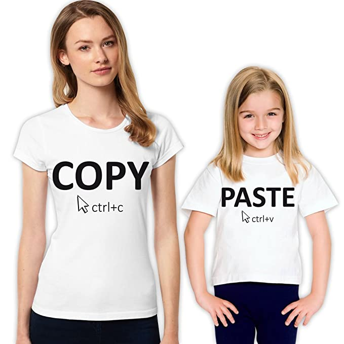 7212dc958 She is Like Mom Copy Past Mother and Daughter Family T-Shirt Set 348 L