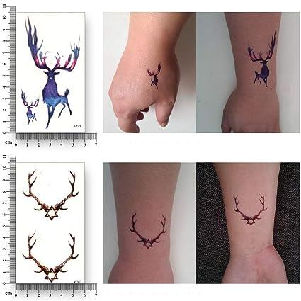 MRKAL Tatuajes Temporales Tatuaje Temporal Falso Impermeable ...