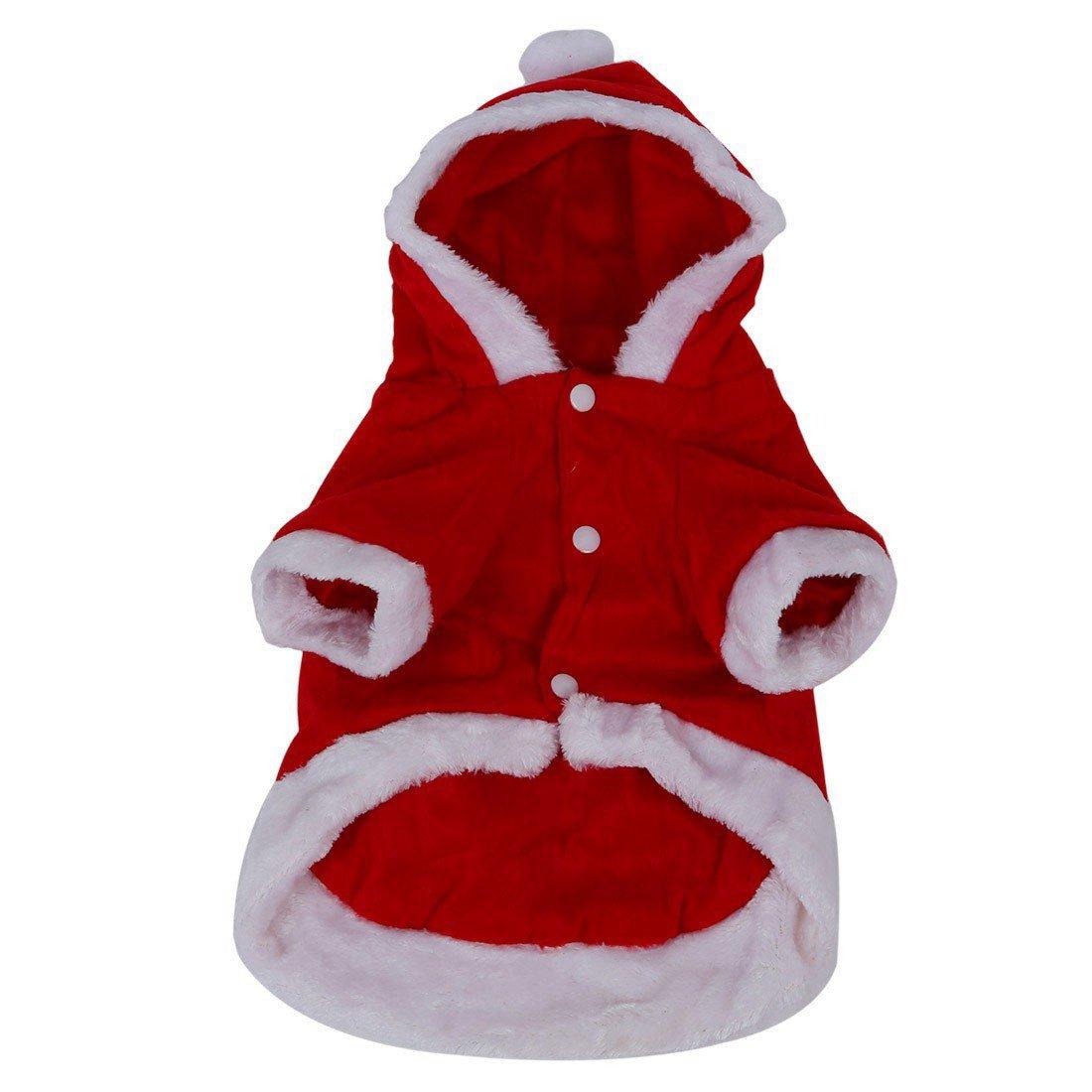 SODIAL(R) Chien Costumes Noel Ange Aile Chien Veste costume de Pere Noel Fantaisie Cadeaux D'animaux - Rouge(S)