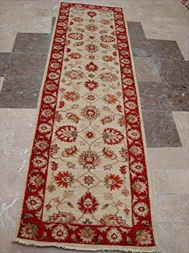 Chobi Carpet - AHMEDANI Wow Chobi Zeigler Mahal Vege Dyed Hand Knotted Carpet Rug Runner (8.0 x 2.4)'