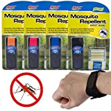 PIC 4 Pack Outdoor Mosquito Repellent Bracelet Deet Free Pest Repeller Insect Repellent For Kids & Adults Patio