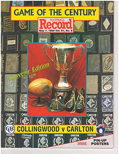 - COLLINGWOOD V CARLTON - SECOND SEMI FINAL 1970 - SOUVENIR FOOTBALL RECORD