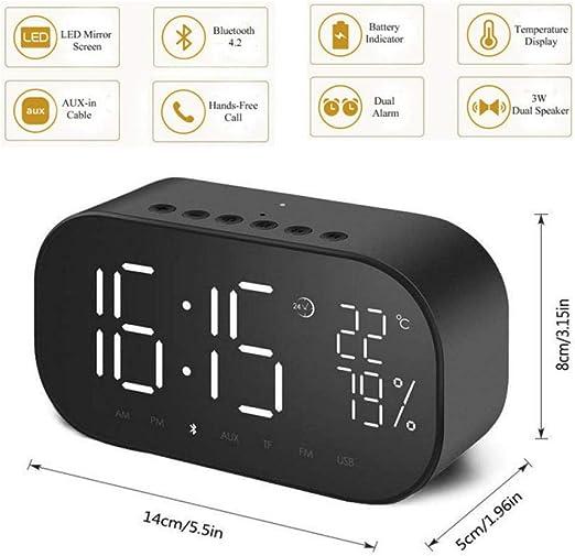 Sinzong Reloj Despertador Pantalla LCD Snooze Clock Light Reloj De ...