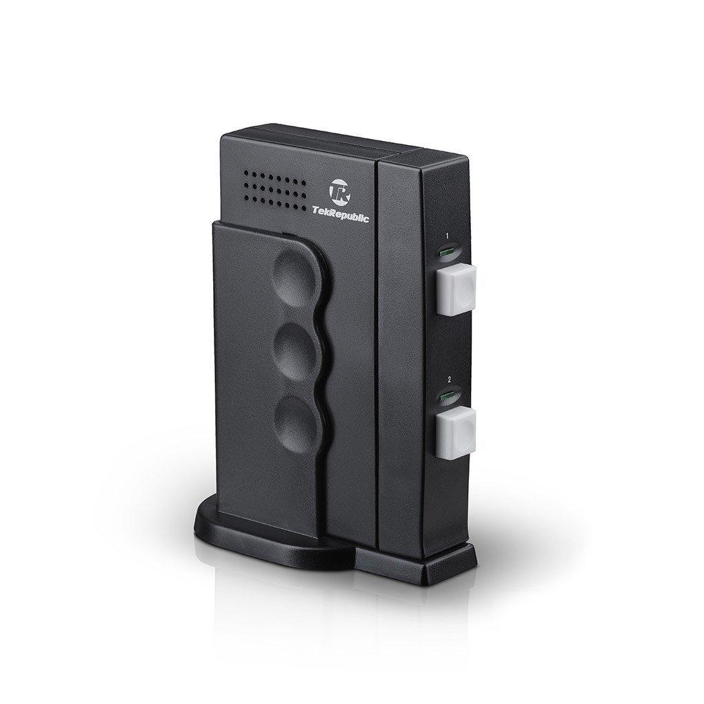 Tek Republic TUS-200 USB Sharing Switch - 2 Port Manual Switch One USB Device/Hub Between Two Computers by Tek Republic