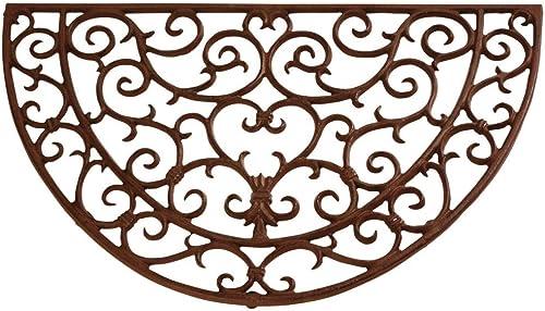 Esschert Design Doormat in Antique Rust – Half Round