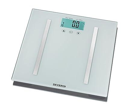 Severin PW 7010 - Báscula de baño con análisis de grasa corporal, color plateado