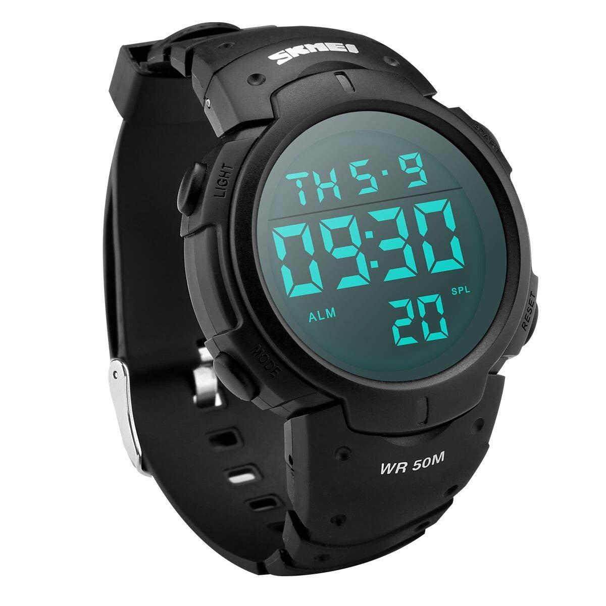 Digital Sports Watch, LED Screen Waterproof Watch with Alarm, Stopwatch,Date, Luminous Night Light,Outdoor Military Watches Multifunction Electronic Wrist Watch for Men Women Kids