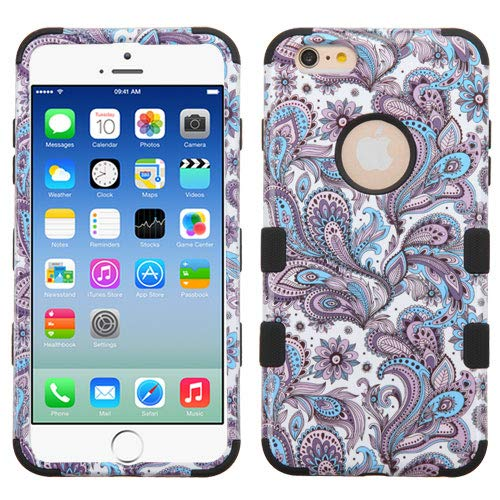 GB Military Grade Shockproof Multi-Layered Case for Apple iPhone 6 / 6S - Purple Paisley/Black