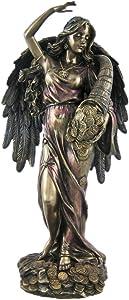 Veronese Bronze Fortuna Roman Goddess Of Fortune Statue Tykhe