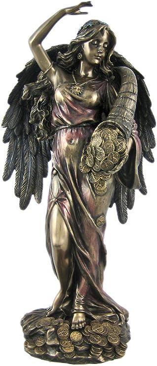 Hot Cast Bronze Lady Fortuna Greek Goddess of Fortune Figurine Statue Sculpture