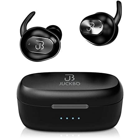 Wireless Earbuds,Bluetooth Headphones 5.0 Deep Bass HiFi Stereo Sound Earphones 16H Playtime with Charging Case and Built in Mic for Sports Running Black