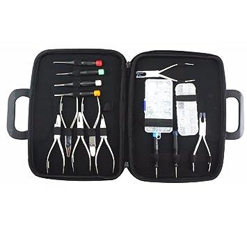 4c68704da70 eyeglasses pliers set screwdriver 7 different plier adjust nose pad glasses  leg + nose pad screw