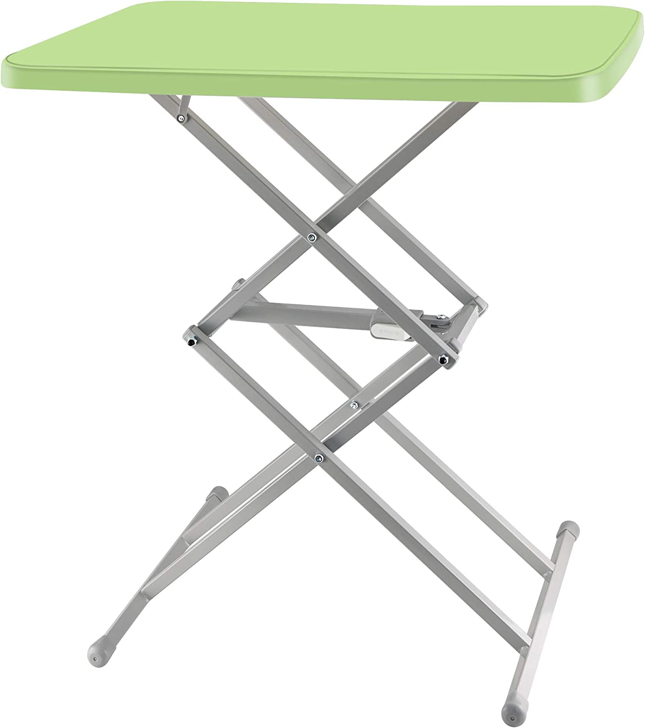 SOUNDANCE Adjustable Folding Table, Lightweight and Portable TV Tray, Sturdy Dinner Tables for Eating, Easy to Fold and Put Away, Zero Assembly Required Desk for Indoor and Outdoor Use, Green