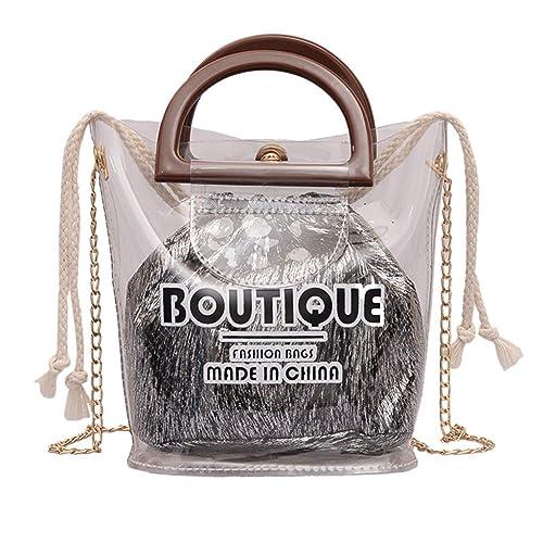 75259f96a9 2PCS Borse a Tracolla da Donna Women Handbag Set Elegant Shoulder Bag  Grandi capacità Borse a