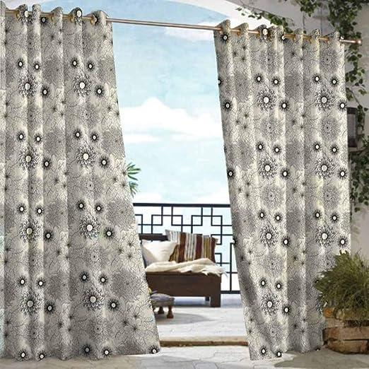 DILITECK - Cortina para pérgola, diseño de Flores de Dalia con pétalos Rojos y Blancos, Color Blanco: Amazon.es: Jardín