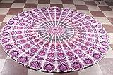 Purple Roundie Round Mandala Indian Peacock Tapestry Tablecloth Round Mandala Beach Sheet Meditation Yoga Mat Bohemian Beach Hippie Decoror