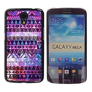 - Hipstr Nebula Aztec Pattern - - Slim Guard Armor Phone Case FOR Samsung Galaxy Mega 6.3 i9200 i9208 Devil Case