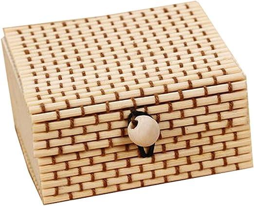 Caja de la joyería de la cortina de bambú 6PCS pequeña caja de ...