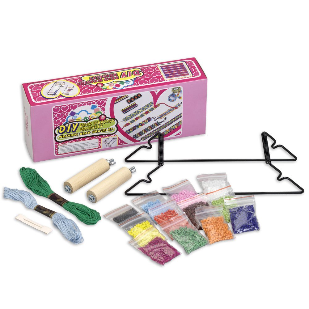 Bead Weaving Loom Kit-Over 1000 Colorful Beads - Make Personalized Necklaces, Bracelets, and More Melville Direct