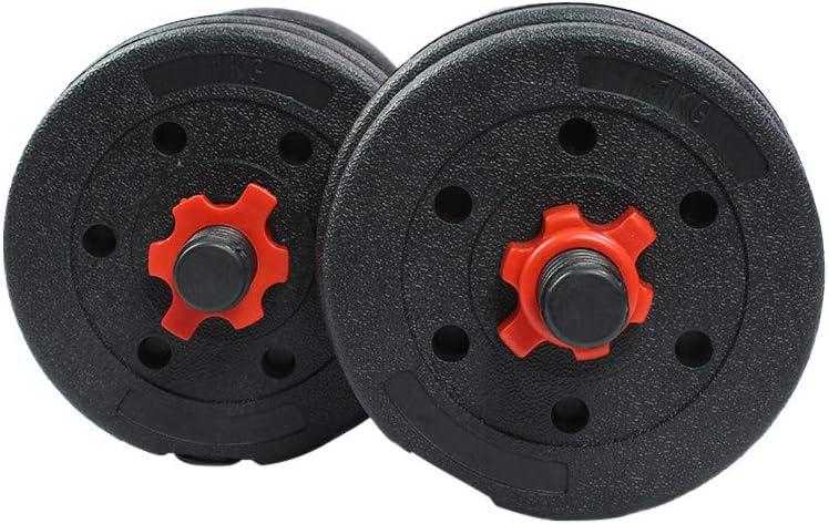 Riscko Peso Total 25 Kg| Entrenamiento De Fuerza Juego De Mancuernas 2 en 1 con Barra Ajustable Equipo de Fitness para Casa y Gimnasio con Barra de Conexi/ón