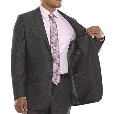 Apt 9 Mens Modern Fit Pindot Polyester Blend Suit Jacket, Black, 44 Long at Men's Clothing store