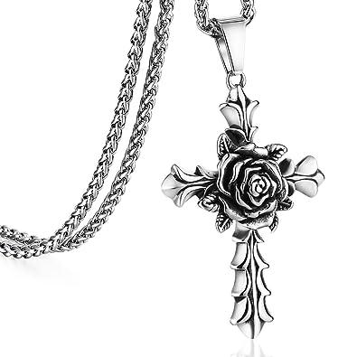 Amazon.com: Cottvott - Collar con colgante de cruz para ...