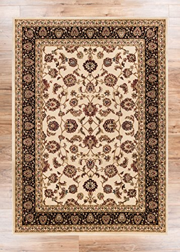 dark gray area rug 8x10 noble ivory floral oriental formal traditional easy clean stain fade resistant shed free modern clearance cheap