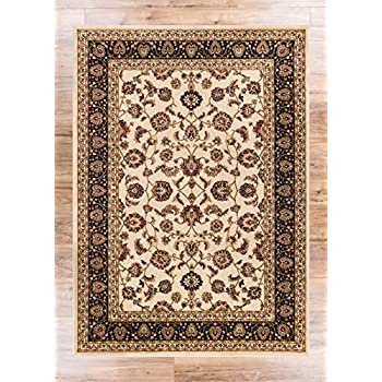 Noble Sarouk Ivory Persian Floral Oriental Formal Traditional Area Rug 5x7 53