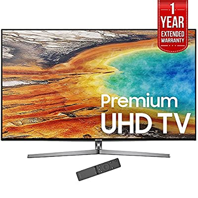 "Samsung 65"" 4K Ultra HD Smart LED TV 2017 Model (UN65MU9000) with 1 Year Extended Warranty"