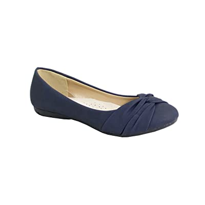 By Shoes Ballerine Plate Style Cuir - Femme