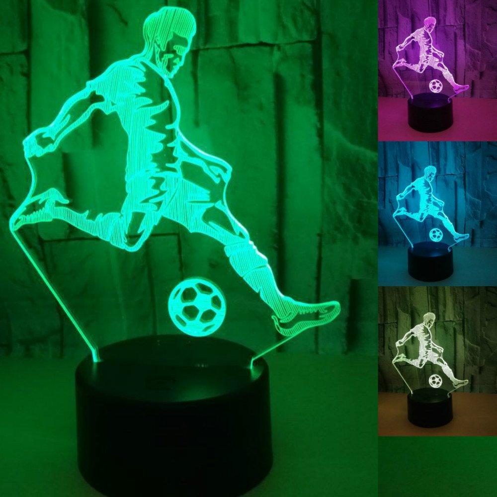 3d Play FootballナイトライトテーブルデスクOptical Illusionランプ7色変更ライトLEDテーブルランプXmasホームLove Brithday子供キッズ装飾おもちゃギフト B07CGQFSNW 16201