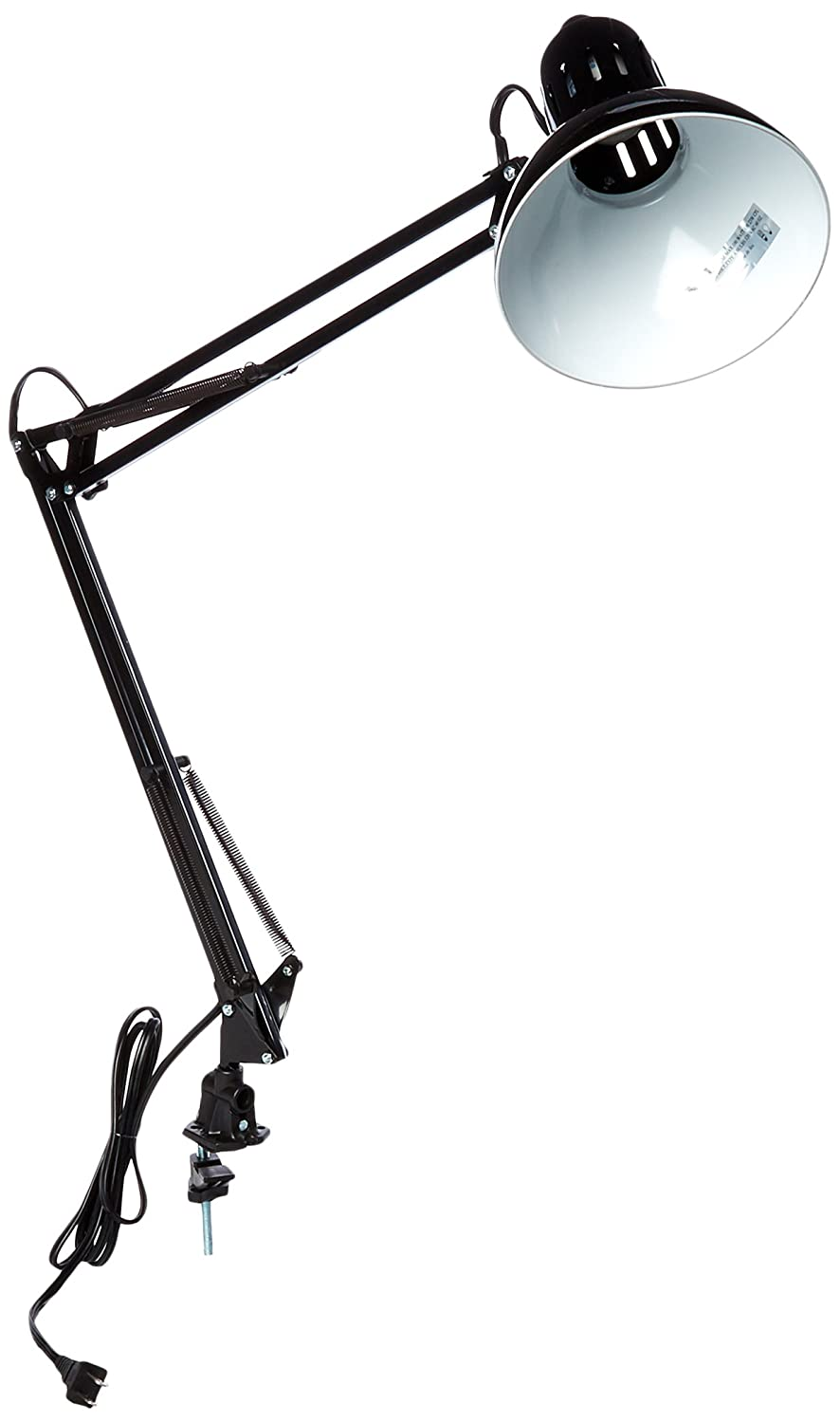 "Lite Source LS-105BLK Desk Lamp with Black Metal Shades, 15"" x 16"" x 35"", Black"