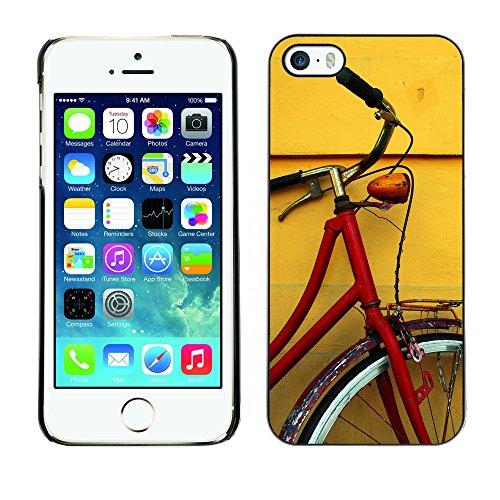 Premio Sottile Slim Cassa Custodia Case Cover Shell // V00002570 vélo Rouge // Apple iPhone 5 5S 5G