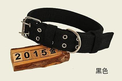 Cdet Collar de Perro de Nylon con Doble Pecho Acolchado Ajustable Duros y duraderos para Mascotas Azul