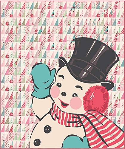 Urban Chiks Sweet Christmas Snowman Quilt Kit Moda Fabrics KIT31150 (Snowman Christmas Cotton Fabric)